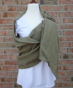 green ring sling made of hemo wrapped