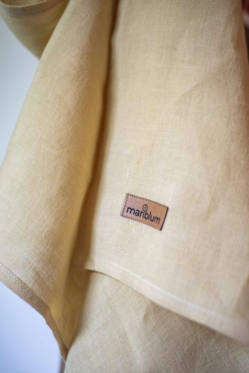 yellow ring sling made of hemp for toddlers