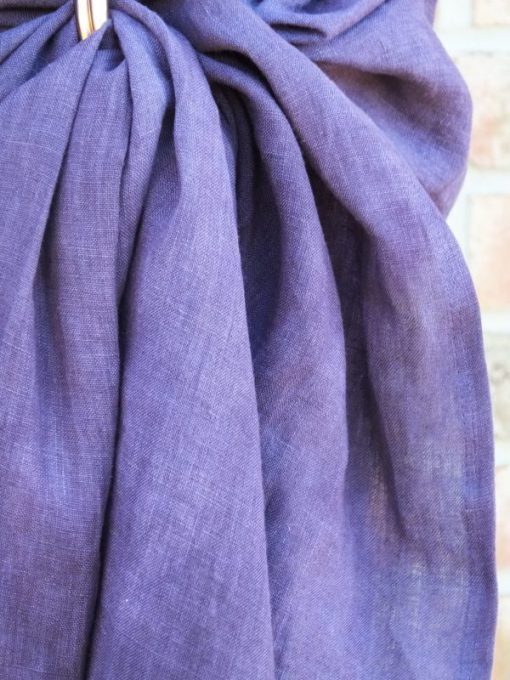lila ring sling aus hanf unikat im detail