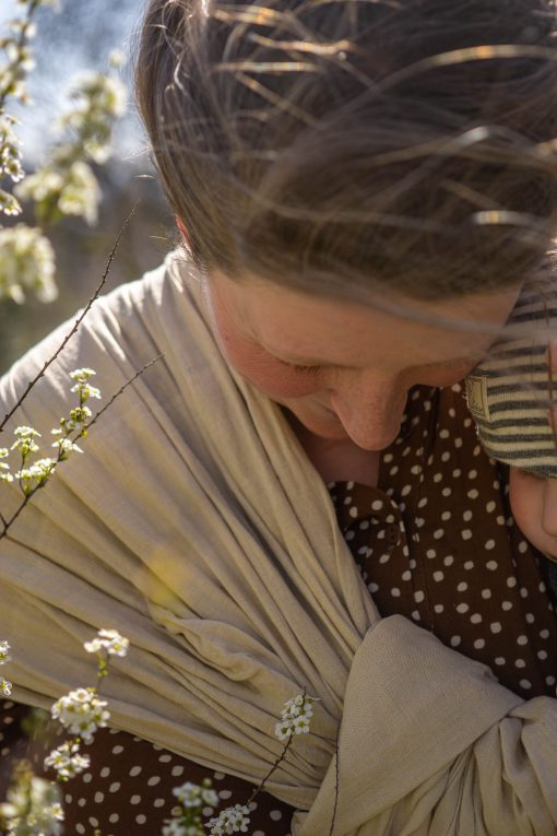 yellow Ring Sling made of Hemp plant dyed
