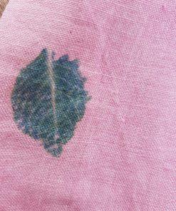 rosa ring sling aus hanf handgefärbt