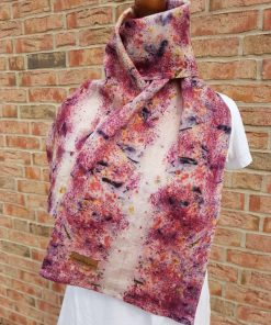 colorful neckerchief made of hand plant dyed