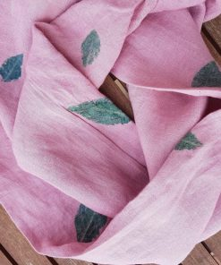 pink loop handmade made of hemp