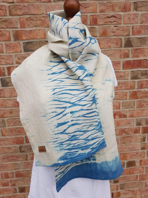 waves neckerchief made of hemp