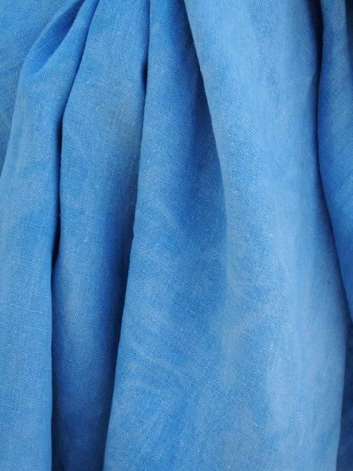 marmorierter blauer ring sling aus hanf