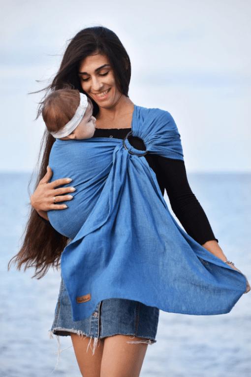 sky-blue-linen-organic-ring-sling-babywearing-consulant