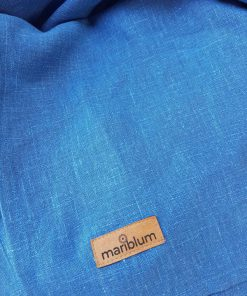 Azzurro fascia porta bebè in lino