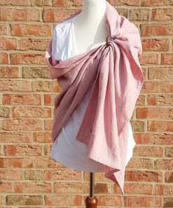 pink linen ring sling made of organic linen