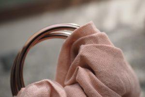 rose hemp babywearing sling